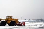 Международный аэропорт Краснодар приостановил работу из-за снегопада
