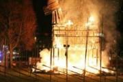 В Швеции вандалы сожгли символ Рождества
