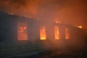 В Одессе дотла сгорела казарма