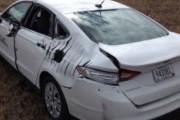 Странное ДТП: автомобиль столкнулся с самолетом