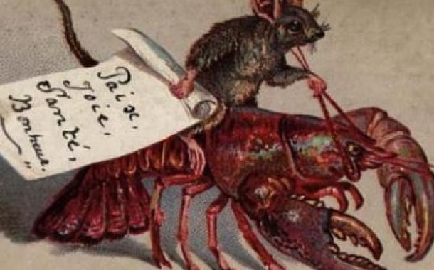 Странные рождественские открытки викторианской эпохи