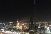 В центре Дубая загорелся небоскреб
