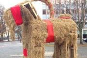 В Швеции вновь сожгли рождественского козла