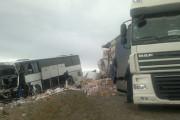Появились первые фото с места аварии в Ставрополье