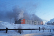 Опубликовано видео поджога администрации Дудинки