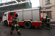 Строительные бытовки горят на юге Москвы