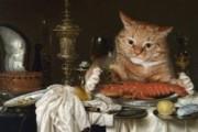 С выставки в Петербурге украли две картины с котами