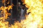 В Москве горит общежитие на улице Михалковская