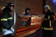 Многоквартирный дом горит в Красноярском крае
