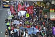 Гонконг: традиционный протест в Новый год