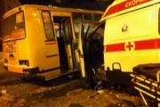 Маршрутка и машина «скорой» столкнулись в центре Нижнего Новгорода