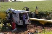 В Бразилии самолет упал на фургон с рабочими